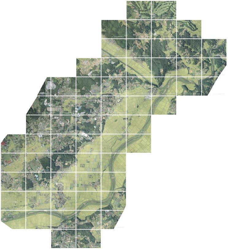 『空から見た中島村』の画像